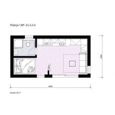 Moduláris ház - stúdió apartman