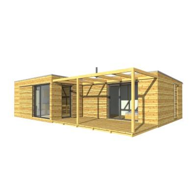Moduláris ház, 3 szobás